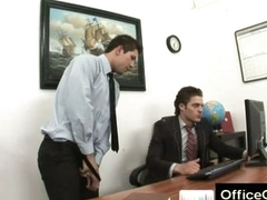 Gay guy raunchy masturbating at work aloft office