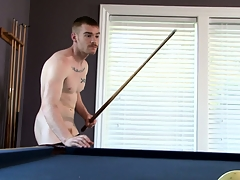 James Jamesson plays a little pool and strokes his reply to stick