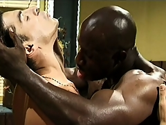 He released himself and his tax to his black lover's big meaty rod