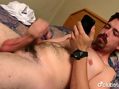 Sexy Ingenuous Mike Jerking Off His Prick