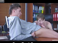 Drenching takes hard cock all over her mouth