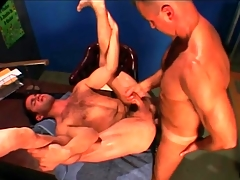 Gym teacher fucks his hairy student thither the ass