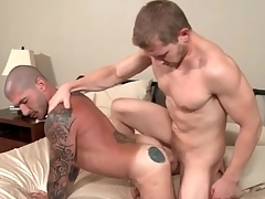 Hard body versatile guys fuck each other