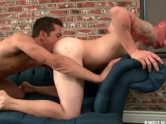 Sexy guy sucks a dick and licks tight asshole