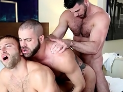 Gay bear anal trilogy ends give hot cumshots