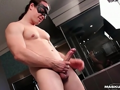Big cock guy fucks a sex toy deep
