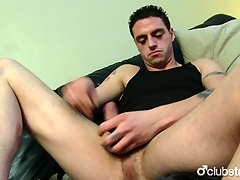 Tattooed Frankly Guy James Masturbating