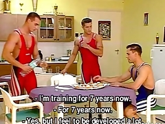 Cock-hungry wrestlers ask pardon a hot gay orgy
