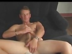 Aussie Boy Next Door Cody Uses Dildo and Stokes His Big Cock