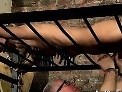 Hot gay scene Blindfolded victim guy Reece has found himself