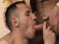 Hot gay amateur enjoys bareback sex and gets a mouthful of hot semen