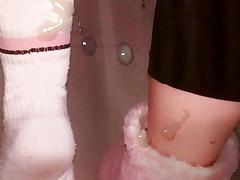 Female socked feet tribute